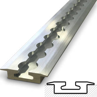 522496T Macs USA Aluminium Track Kit # 4-2.44M (8Ft) Single Track Length Only -No Fastenings + No Single Stud Rings
