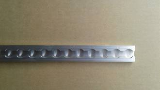 522296T Macs USA Aluminium Track Kit # 2-2.44M (8Ft) Single Track Length Only -No Fastenings + No Single Stud Rings