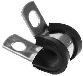 "Rubber Lined Clamps Steel for 3/16"" Pipe"