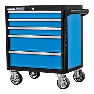 KK7925 KINCROME EVOLUTION TOOL TROLLEY 5 DRAWER FREIGHT FREE NZ