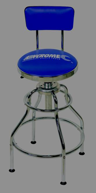 KK8110 Kincrome Pneumatic Garage Stool with Back Rest