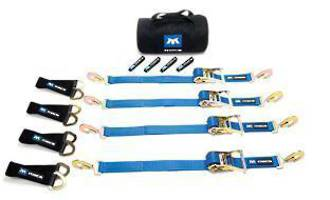 512206 Macs USA Ratchet Tie Down Ultra Pack Blue - Sewn End Ratchet Option