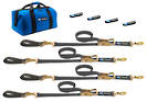 511206 Macs USA Ratchet Tie Down Ultra Pack Black -Sewn End Ratchet Option