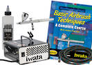 FIWBEGG Iwata Beginners Air Brush Kit Gravity 5 Piece