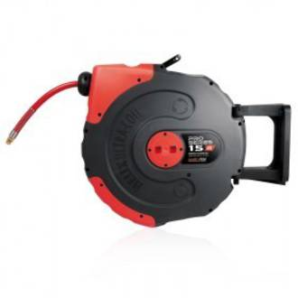 Jamec Pem JP58.1056 Pro Series Retractable Air Hose Reel 12.5mm x 15M Hi Flow