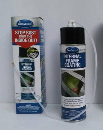 12515 Eastwood Internal Frame Coating 397GM Aerosol c/w 600mm Extension + Conical Nozzle