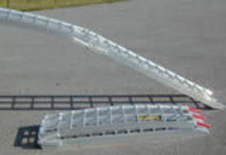 "712FRS USA Aluminium Ramp (Single) Arched Folding,2.13M (7') Long (unfolded) x 300mm (12"") Wide 340Kg Capacity"