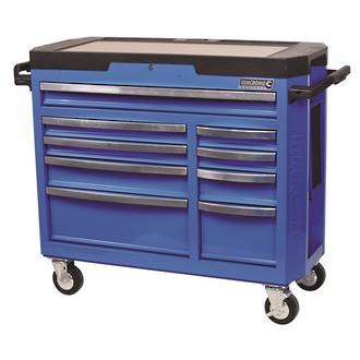 KK7759 Kincrome Contour Tool Trolley 9 Drawer Electric Blue-extra wide