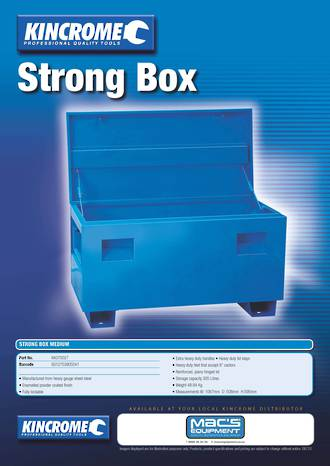 KK070027/C Kincrome Steel Heavy Duty Strong or Site Tool Box Freight Free