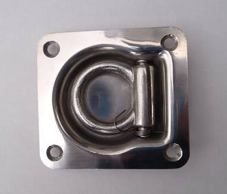 330800 Stainless Steel  Recessed D or Lashing ring with 800Kg safe working load capacity